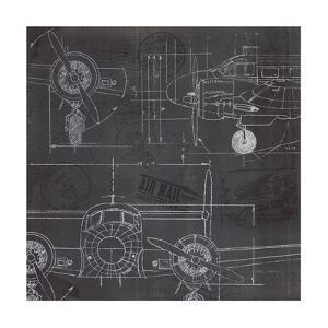 Plane Blueprint III by Marco Fabiano