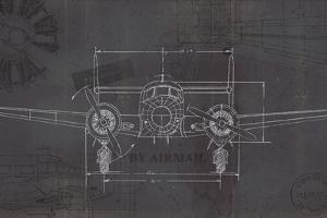 Plane Blueprint IV Wings by Marco Fabiano