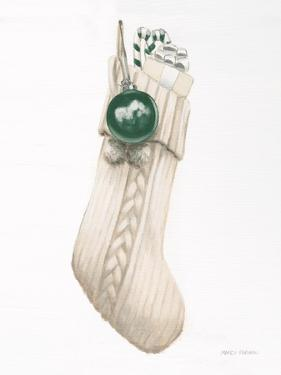 White Christmas Stocking Green by Marco Fabiano