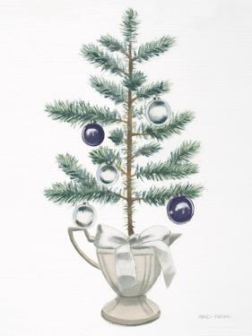 White Christmas Tree Navy by Marco Fabiano