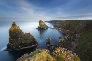 Duncansby Stacks in the Evening Light, Duncansby Head, John O'Groats, Scotland, Great Britain by Marco Isler