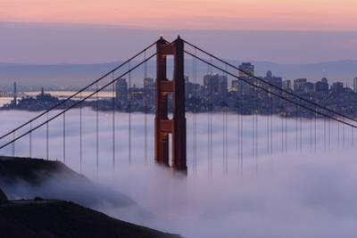 Golden Gate Bridge, Fog, San Francisco, California by Marco Isler