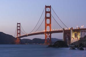 Golden Gate Bridge, in the Evening, California, San Francisco by Marco Isler