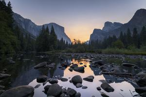 Sunrise in the Merced River, California, Yosemite Valley by Marco Isler