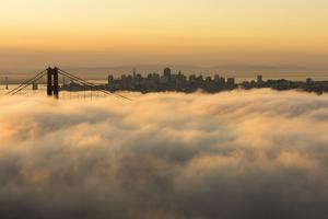 The Golden Gate Bridge in the Fog, California, San Francisco by Marco Isler