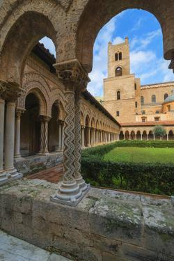 Cloister, Cathedral of Monreale, Monreale, Palermo, Sicily, Italy, Europe by Marco Simoni