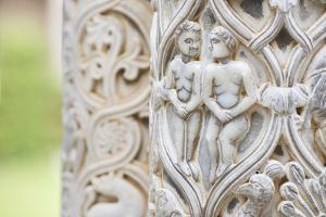 Cloister columns detail, Cathedral of Monreale, Monreale, Palermo, Sicily, Italy, Europe by Marco Simoni