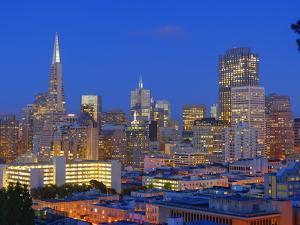Downtown and Transamerica Building, San Francisco, California, Usa by Marco Simoni