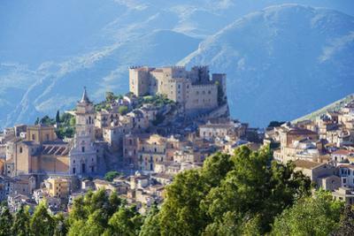 Europe, Italy, Sicily, Caccamo, Norman Castle,