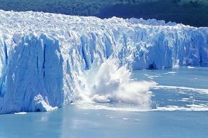 Glacier Ice Melting and Icebergs, Moreno Glacier, Patagonia, Argentina, South America by Marco Simoni
