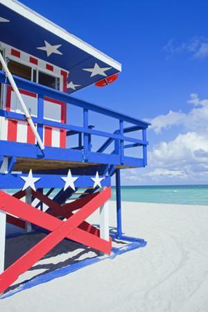Lifeguard Hut, South Beach, Miami, Florida, U.S.A