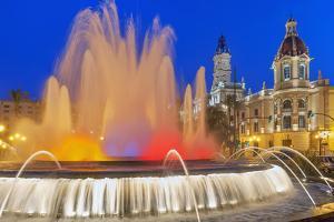 Magic Fountain, Valencia, Comunidad Autonoma de Valencia, Spain by Marco Simoni