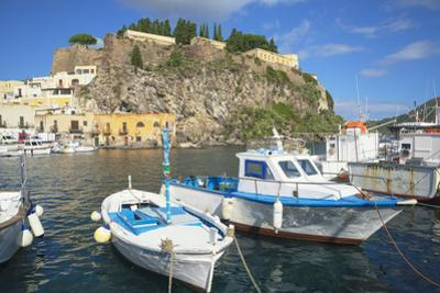 Marina Corta harbor, Lipari Island, Aeolian Islands, UNESCO World Heritage Site, Sicily, Italy