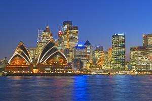 Opera House and Sydney Skyline, Sydney, New South Wales, Australia, by Marco Simoni