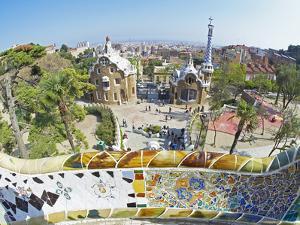 Park Guell, Barcelona, Catalonia, Spain, Europe by Marco Simoni