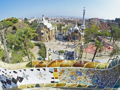 Park Guell, Barcelona, Catalonia, Spain, Europe by Marco Simoni
