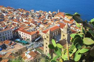 Top view of Cefalu, Cefalu, Sicily, Italy, Europe by Marco Simoni