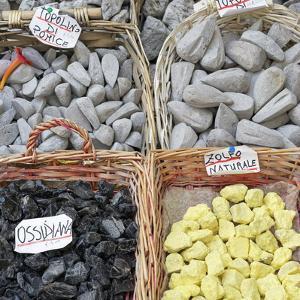 Volcanic rock souvenirs, Lipari Island, Aeolian Islands, UNESCO World Heritage Site, Sicily, Italy, by Marco Simoni