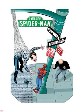 Spidey Sunday Spectacular! No.1 Cover: Spider-Man Leaning Against a Lamp Post by Marcos Martin