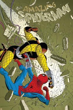 The Amazing Spider-Man No.579 Cover: Spider-Man and Shocker by Marcos Martin