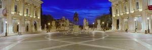 Marcus Aurelius Statue at a Town Square, Piazza Del Campidoglio, Capitoline Hill, Rome, Italy