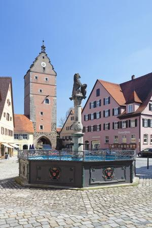 Fountain at the Marketplace with Wornitz Turm Tower