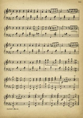 Vintage Music Sheet by Marcus Jules