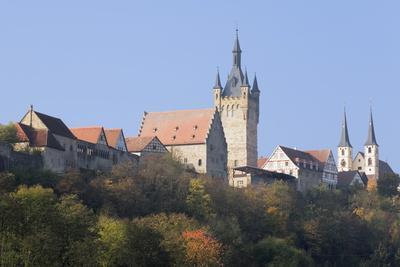 Blauer Turm Tower and St. Peter Collegiate Church, Bad Wimpfen, Neckartal Valley