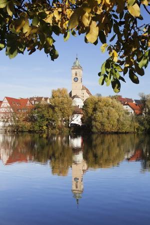 Municipal Church of Stadtkirche St. Laurentius, Nurtingen, Neckar River