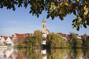 Municipal Church of Stadtkirche St. Laurentius, Nurtingen, Neckar River by Marcus Lange