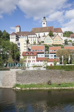 Old Towm with Dominican Monastery and Stiftskirche Heilig Kreuz Collegiate Church and Neckar River by Marcus Lange