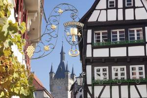 Old Town with Blauer Turm Tower, Bad Wimpfen, Neckartal Valley, Baden Wurttemberg, Germany, Europe by Marcus Lange