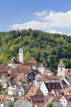 Old Town with Stiftskirche Heilig Kreuz Collegiate Church, Horb Am Neckar, Black Forest by Marcus Lange
