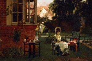 In the Shade, 1879 by Marcus Stone