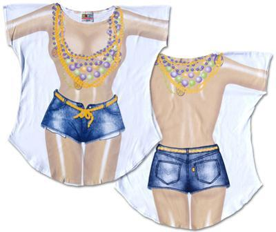 Mardi Gras Girl Cover-Up