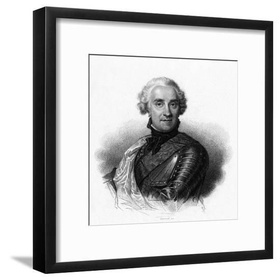 Marechal de Saxe--Framed Giclee Print