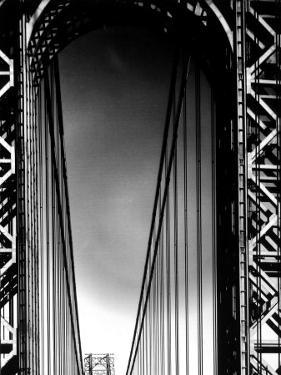 Looking up to Tower on the George Washington Bridge by Margaret Bourke-White