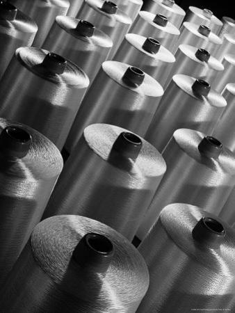 Rayon Yarn on Spools at the Industrial Rayon Corp. Factory by Margaret Bourke-White