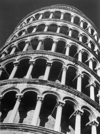 The Famous Leaning Tower, Spared by Shelling in Wwii, Still Standing, Pisa, Italy 1945 by Margaret Bourke-White