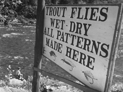 Trout: Wet - Dry All Patterns Made Here Between North Creek and North River, Hudson River Valley by Margaret Bourke-White