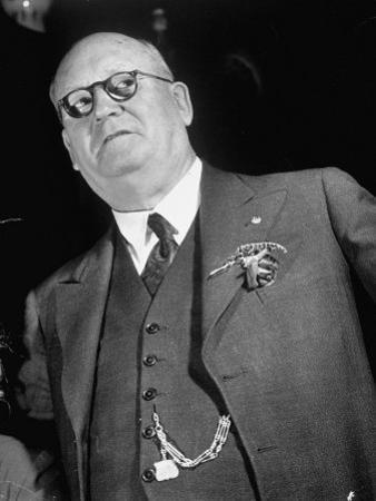 Union of South Africa Prime Min. Daniel F. Malan, Who Won on a Violent, Anti-Black Platform by Margaret Bourke-White