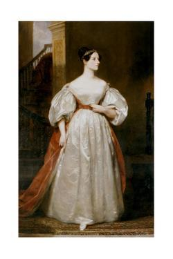 Countess Augusta Ada Lovelace (1815-185), English Mathematician and Writer by Margaret Carpenter