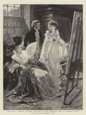 Miss Angel, Angelica Kauffmann, Introduced by Lady Wentworth, Visits Mr Reynolds's Studio by Margaret Isabel Dicksee