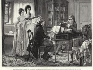 Sheridan at the Lindleys by Margaret Isabel Dicksee