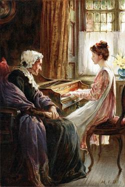 Their Evening Hymn, 1892 by Margaret Isabel Dicksee