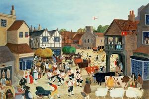 18th Century Mayfair Cattle Market by Margaret Loxton