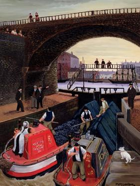 Regent's Canal Lock by Margaret Loxton