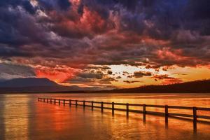 Mortimer Bay Sunset by Margaret Morgan