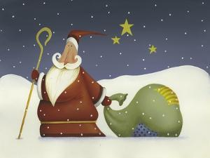 Santa and His staff by Margaret Wilson