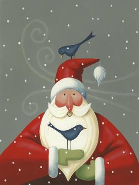 Santa with Bluebirds by Margaret Wilson